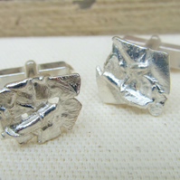 Melted Silver Cufflinks