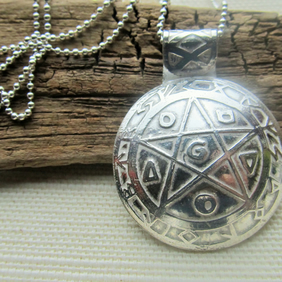 Pentacle 'Witches Necklace' with ball chain