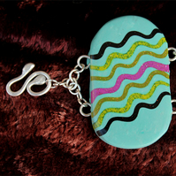 SALE  -  Turquoise Polymer Clay  Bracelet  - Gorgeous Snake !