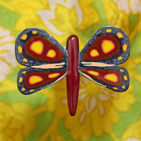 Butterfly Brooch- Handmade Polymer Clay Brooch