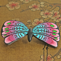 Fragrant Butterfly Brooch - Polymer Clay Brooch