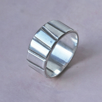 Silver Ring - Handmade Textured Silver Ring - Silver Band Ring
