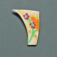 Pretty Flowers Brooch - Polymer Clay Brooch
