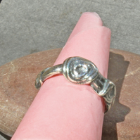 Swirled Silver Designer Band Ring - Unique Design Artisan Fusion Ring