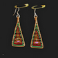 Bead Earrings Handmade woven bead earrings - Fancy Bronze Age Triangle Drops