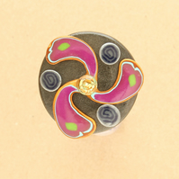 Celtic Triskel Brooch - Handmade Polymer Clay Pin Brooch