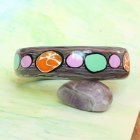 Orange, Green and Purple Colours - Designer Chunky Bangle