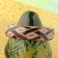Designer Bangle - Celtic Style Interweave Pattern - Handmade Polymer Clay Bangle