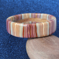 Modern Craft Post Industrial Style Designer Bangle - Lovely Stripes!.