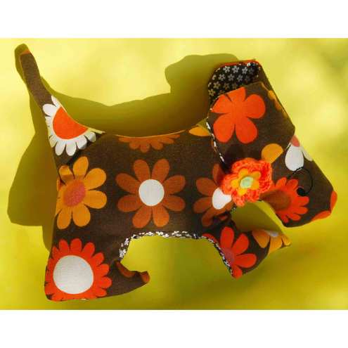 Vintage fabric dog - donated to the Blue Cross