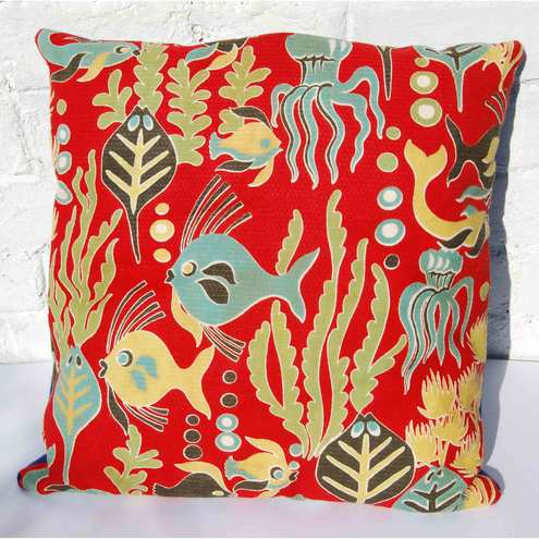 Vintage Fabric Seaside Cushion