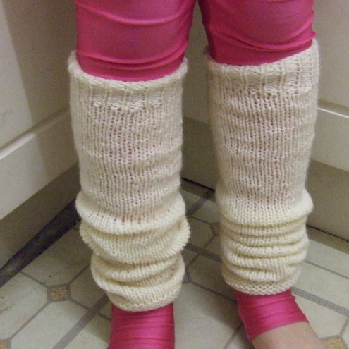 Easy Two Needle Leg Warmers Knitting Pattern PDF - Folksy