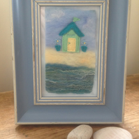 'The Retreat' - Embroidered Painting With Wool