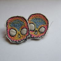 Mini Fun Skull Earrings