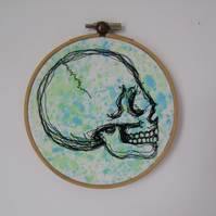 Colourful Embroidered Skull