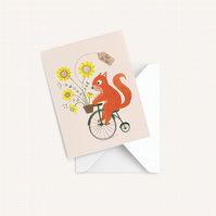 Squirrel Card, Blank card, Just for you