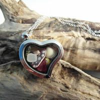 Beach Treasures Locket - Cornish Sea Shells  - Sterling Silver