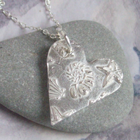 Silver Necklace - Shell Design by Lovebird Silver Jewellery
