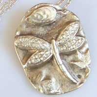 Silver Necklace - Dragonfly - Artisan Silver Jewellery and Keepsakes