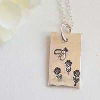 Silver Necklace - Honey Bee Design by Artisan Silver Jewellery and Keepsakes