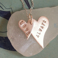 Silver Necklace, Love Heart Design by Lovebird Silver Jewellery -Personalised