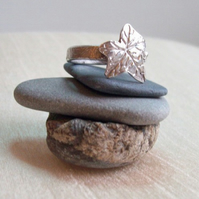 Silver Ivy Leaf Ring - Artisan Fine Silver Jewellery
