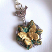Butterfly Necklace - Artisan Silver Jewellery and Keepsakes