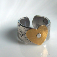 Jude's Custom Order  -  Love Cuff & Valentine Ring &  Matching Earrings