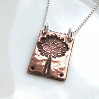Tree of life necklace -copper