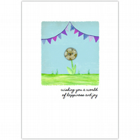 SALE - greetings cards :: bunting blessings world of happiness (purple)