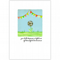 SALE - greetings card :: bunting blessing beautiful tomorrows (orange)