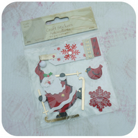 SALE - father christmas card making stickers