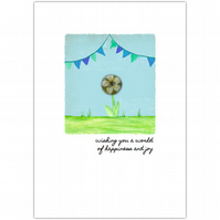 SALE - greetings cards :: bunting blessings world of happiness (blue)