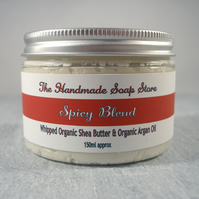 Whipped Organic Shea Body Butter & Organic Argan Oil - Spicy Essential Oil Blend