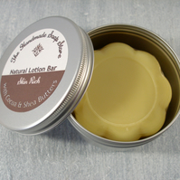 Skin Rich - All Natural Cocoa & Shea Butter Lotion Bar w. Essential Oils in Tin