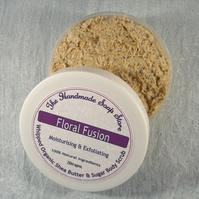Natural Whipped Shea Butter & Fairtrade Brown Sugar Body Scrub - Floral Fusion