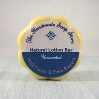 All Natural Cocoa & Shea Butter Lotion Bar - Unscented