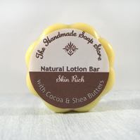 Skin Rich - All Natural Cocoa & Shea Butter Lotion Bar with Essential Oils