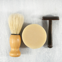 Cedarwood Shave: Handmade Cold Process Shaving Soap with Organic Shea Butter