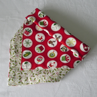 Red Christmas bandana Dribble Bib