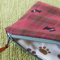 Tartan Scottie Dog coin purse