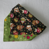 Christmas Owl dribble bib