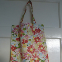 Red Daisy Canvas Tote Bag