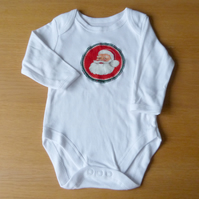 Father Christmas long sleeve babygrow