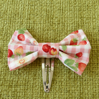 Strawberries and Cream Hair Bow