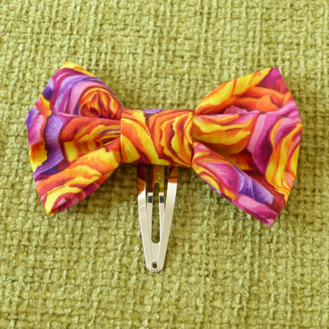 Funky Rose Hair Bow