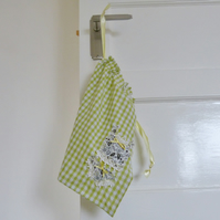 Green Gingham Smalls Laundry Bag