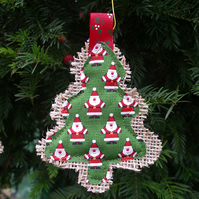 Santa Hessian Christmas Tree Decoration
