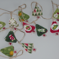 Miniature Christmas Tree garland