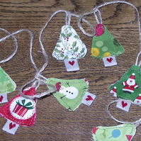 Miniature Christmas Tree garland decoration